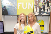 Catherine Rose Young (L) and Cheryl Hines attend the HBO LUXURY LOUNGE presented by ANCESTRY on January 6, 2018 in Beverly Hills, California.
