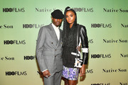 """Actors Ashton Sanders and Kiki Layne attend HBO's """"Native Son"""" screening at Guggenheim Museum on April 1, 2019 in New York City."""