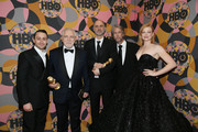 (L-R) Kieran Culkin, Brian Cox, Jesse Armstrong, Alan Ruck and Sarah Snook attend HBO's Official 2020 Golden Globe Awards After Party in Los Angeles, California.