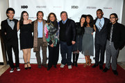 (L-R) Justice Smith, Analisa Gutierrez,  Paul T. Lehr, Anna Deavere Smith, Kirk Simon, Karen Goodman, Jaz Sinclair, Joseph Wood and Julian Aldana-Tejada attend HBO's YoungArts MasterClass: Anna Deavere Smith Screening At The Metropolitan Museum Of Art on April 7, 2014 in New York City.