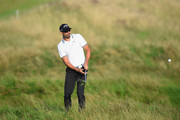 Alvaro Quiros of Spain plays his second shot out of the rough on the 10th fairway during Day One of the HNA Open de France at Le Golf National on June 28, 2018 in Paris, France.