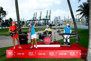Lexi Thompson of the USA, Lydia Ko of New Zealand; Shanshan Feng of China and Inbee Park of South Korea during a photo call prior to the HSBC Women's Champions at the Sentosa Golf Club on March 1, 2016 in Singapore, Singapore.