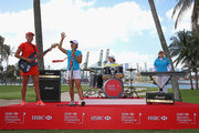 (L-R) Lexi Thompson of the USA, Lydia Ko of New Zealand, ShanShan Feng of China and Inbee Park of South Korea are pictured during a photocall  for the HSBC Women's Champions at Sentosa Golf Club on March 1, 2016 in Singapore, Singapore.