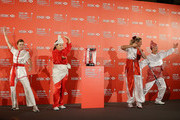 (L-R) Paula Creamer of the USA, Inbee Park of South Korea, Suzann Pettersen of Norway and Shanshan Feng of China strike a pose during a photocall at the Fairmont Hotel prior to the start of the 2014 HSBC Women's Champions on February 25, 2014 in Singapore, Singapore.