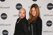 David Evangelista (L) and Kelly Bensimon attend the celebration of HSN Digital Redesign at Marquee New York on January 16, 2013 in New York City.