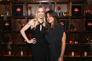"""Actress Kristin Bauer van Straten and Gigi Ganatra Duff attend HSN & HBO's """"Forsaken by True Blood"""" Event on July 26, 2012 in New York City."""