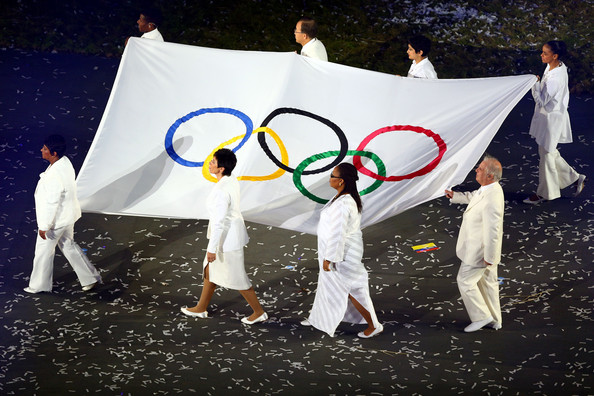 Haile Gebrselassie and Leymah Gbowee - Olympics - Best of the Opening Ceremony