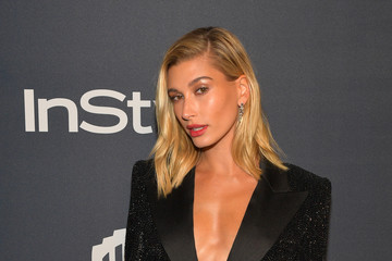 Hailey Bieber The 2020 InStyle And Warner Bros. 77th Annual Golden Globe Awards Post-Party - Red Carpet