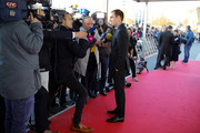 Philipp Lahm gives interviews at the Hall Of Fame gala at Deutsches Fussballmuseum on April 01, 2019 in Dortmund, Germany.