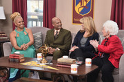 """(L-R) Actresses Kim Fields, Todd Bridges, Lisa Whelchel and Charlotte Rae attend Hallmark's Home and Family """"Facts Of Life Reunion"""" at Universal Studios Backlot on February 12, 2016 in Universal City, California."""