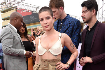 Halsey SiriusXM's 'Hits 1 in Hollywood' Broadcasts From the Red Carpet Leading Up to the Billboard Music Awards at the T-Mobile Arena