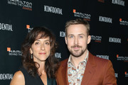 """Mary Zophres, winner of the Hamilton Award for Costume Designer for """"First Man"""" (L) and Ryan Gosling attend the Hamilton Behind the Camera Awards presented by Los Angeles Confidential Magazine on November 4, 2018 in Los Angeles, California."""