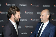 Jamie Dornan (L) and CEO, Hamilton Sylvain Dolla attend the Hamilton Behind the Camera Awards presented by Los Angeles Confidential Magazine on November 4, 2018 in Los Angeles, California.