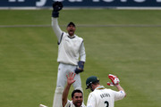 Kabir Ali of Hampshire appeals unsuccessfully for the wciekt of Ali Brown of Nottinghamshire during the LV County Championship match between Hampshire and Nottinghamshire at the Rosebowl on May 5, 2010 in Southampton, England.