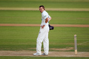 Hampshire captain Dominic Cork looks dejected during the first day of the LV County Championship Division One match between Hampshire and Yorkshire at The Rose Bowl on August 2, 2011 in Southampton, England.