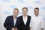 """(L-R) Alec Baldwin, Ted Braun and David Nugent attend the Hamptons International Film Festival SummerDocs Series screening of """"Betting On Zero"""" at Guild Hall on August 6, 2016 in East Hampton, New York."""