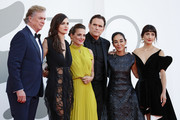 """(L-R) Christopher McDonald, Rebecca Comerford, Nicole Ansari-Cox, Matt Dillon AND Shirin Neshat attend the red carpet of the movie """"The Hand Of God"""" during the 78th Venice International Film Festival on September 02, 2021 in Venice, Italy."""