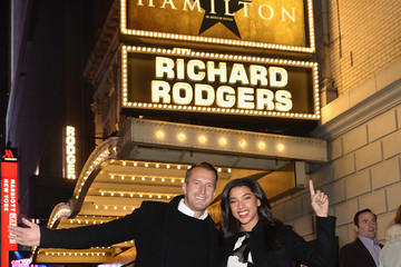 Hannah Bronfman Brendan Fallis American Express Celebrates the New Platinum Card With Hamilton Takeover Experience in New York City