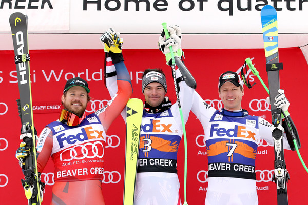 Audi Birds of Prey World Cup - Super G [birds of prey,sports,recreation,championship,team,competition,competition event,nordic combined,sports equipment,cross-country skier,photographers,kjetil jansrud,hannes reichelt,medals podium,austria,norway,audi,super g,world cup]