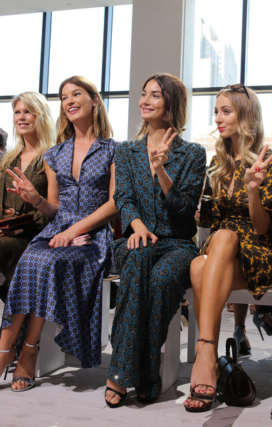 Michael Kors Spring 2016 Runway Show - Front Row [michael kors spring 2016 runway show,the shows,fashion,lady,fashion design,event,beauty,hairstyle,sitting,dress,fashion show,blond,hanneli mustaparta,alexandra richards,harley viera-newton,lily aldridge,front row,new york city,spring studios,new york fashion week]