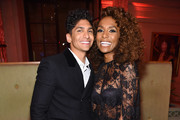 """Angel Bismark Curiel and Janet Mock attend as Harper's BAZAAR celebrates """"ICONS By Carine Roitfeld"""" at The Plaza Hotel presented by Cartier - Inside on September 06, 2019 in New York City."""