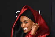 """Halima Aden attends as Harper's BAZAAR celebrates """"ICONS By Carine Roitfeld"""" at The Plaza Hotel presented by Cartier - Arrivals on September 06, 2019 in New York City."""