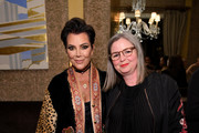 Kris Jenner and Kate Lewis pose for a photo as Harper's BAZAAR's Glenda Bailey celebrates her Damehood on May 05, 2019 in New York City.