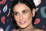 (EDITORIAL USE ONLY) Demi Moore attends the Harper's Bazaar Exhibition as part of the Paris Fashion Week Womenswear Fall/Winter 2020/2021 At Musee Des Arts Decoratifs on February 26, 2020 in Paris, France.