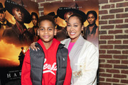 """(L-R) Kiyan Carmelo Anthony and La La Anthony attend the """"Harriet"""" New York Screening at The Roxy Hotel on October 24, 2019 in New York City."""