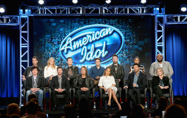 2016 Winter TCA Tour - Day 11 [scott borchetta,harry connick jr.,keith urban,jennifer lopez,ryan seacrest,nick fradiani,trish kinane,david cook,l-r,stage,event,performance,talent show,stage equipment,heater,performing arts,musical theatre,convention,competition,winter tca]