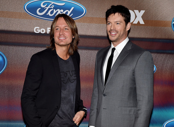 'American Idol XIV' Finalist Party [event,premiere,suit,formal wear,white-collar worker,party - arrivals,keith urban,harry connick jr.,american idol xiv,california,los angeles,the district,fox,l,finalist party]