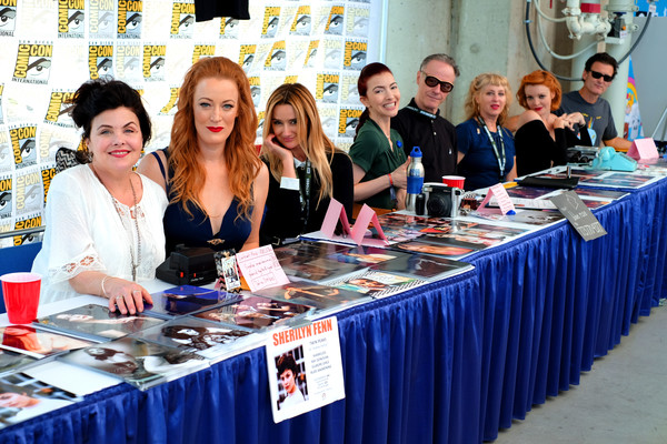Comic-Con International 2018 - 'Twin Peaks' Autograph Signings And Fan Event [twin peaks,comic-con international 2018,event,customer,meeting,management,employment,convention,kimmy robertson,chrysta bell,harry goaz,adele rene,l-r,autograph signings,san diego convention center,autograph signings and fan event]