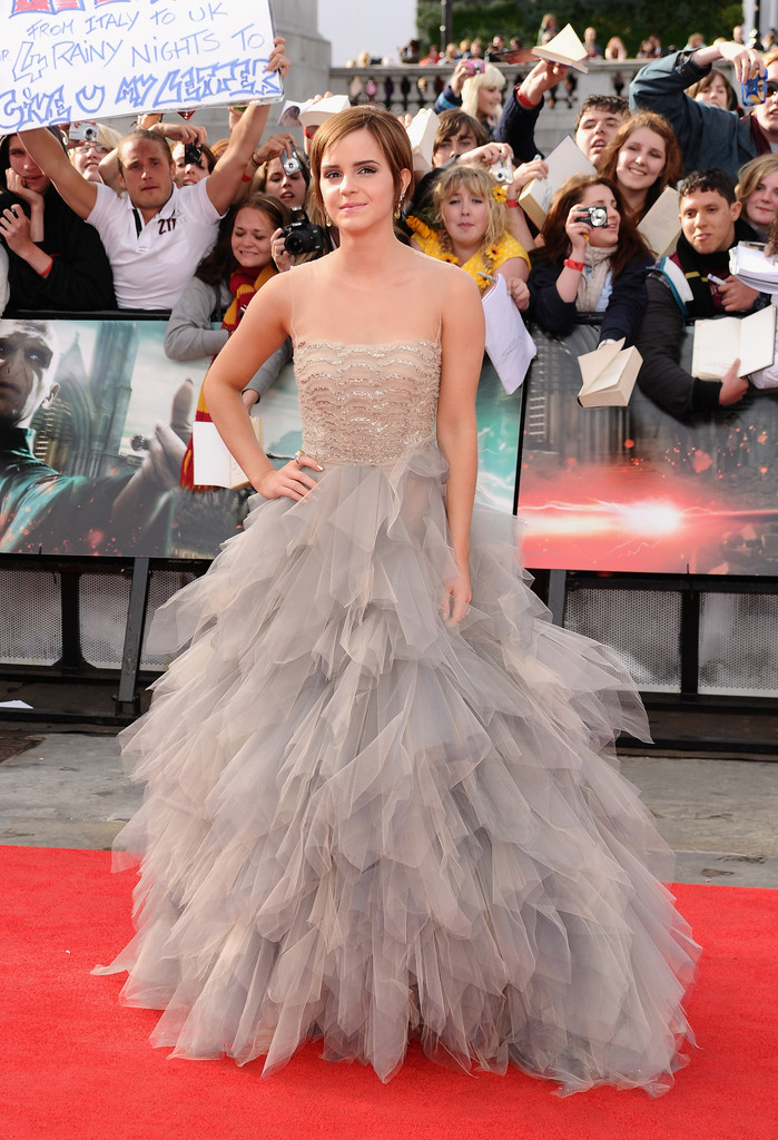 Emma Watson Harry Potter And The Deathly Hallows Part 2 Premiere Dress Harry Potter an...