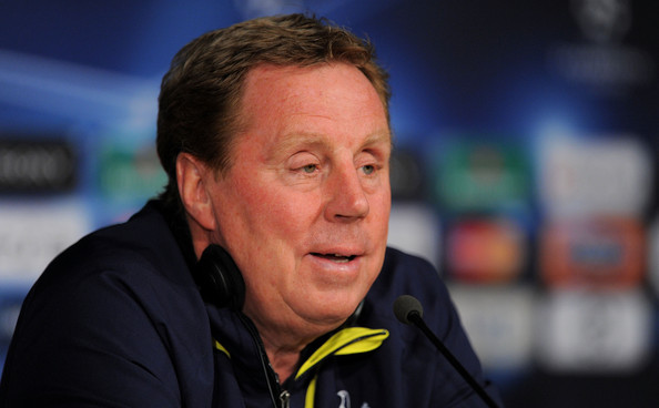 Harry Redknapp Tottenham Hotspur manager Harry Redknapp holds a news conference a day before the UEFA Champions League quarter final first leg match between Real Madrid and Tottenham Hotspur at Estadio Santiago Bernabeu on April 4, 2011 in Madrid, Spain.