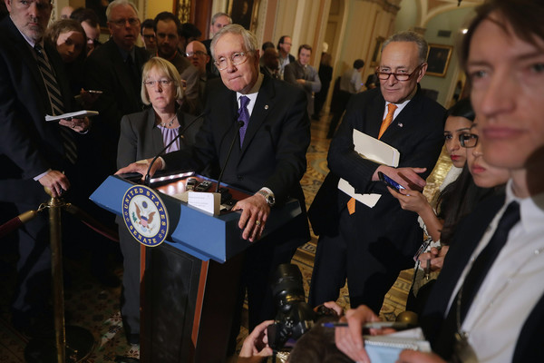 Senate Lawmakers Address the Press After Their Weekly Policy Luncheons
