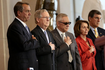 Harry Reid John Boehner Congressional Gold Medal Ceremony Recognizes American Fighter Aces' Service