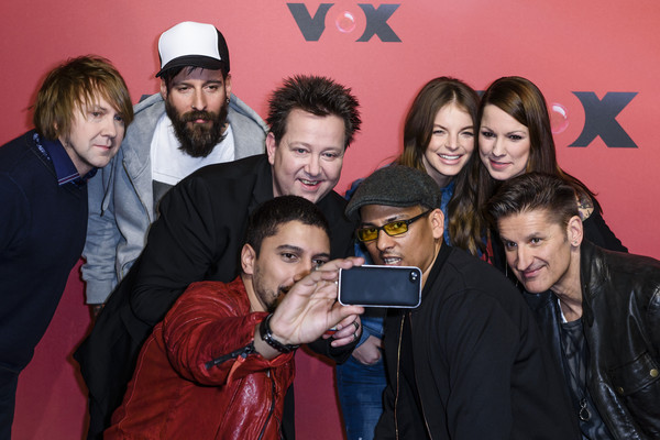 'Sing meinen Song' Photocall [sing meinen song,photocall,social group,event,youth,photography,fun,selfie,party,smile,art,andreas bourani,daniel wirtz,tobias kuenzel,hartmut engler,xavier naidoo,front row,row,photocall]
