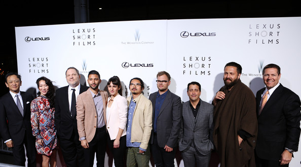 "The Weinstein Company & Lexus Present Lexus Short Film Series ""Life Is Amazing"" [event,premiere,font,white-collar worker,company,businessperson,team,tourism,weinstein company lexus present lexus short film series ``life is amazing,harvey weinstein,managing officer,filmmakers,joel kefali,chung chan ki,cristina molino,justin tipping,l-r,lexus kiyotaka ise]"