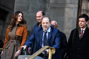 Movie producer Harvey Weinstein departs his sexual assault trial at New York Criminal Court with his lawyer Donna Rotunno (L) on February 14, 2020 in New York City. The weeks-long trial against Weinstein nears the end with the prosecution making closing arguments in today's trial.