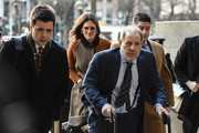 Movie producer Harvey Weinstein arrives for his sexual assault trial with his lawyer Donna Rotunno (2L) at New York Criminal Court on February 14, 2020 in New York City. The weeks-long trial against Weinstein nears the end with the prosecution making closing arguments in today's trial.