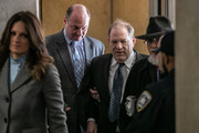 Harvey Weinstein arrives with his attorney Donna Rotunno at New York City Criminal Court on January 22, 2020 in New York City. Weinstein, a movie producer whose alleged sexual misconduct helped spark the #MeToo movement, pleaded not-guilty on five counts of rape and sexual assault against two unnamed women and faces a possible life sentence in prison.