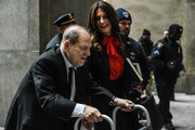 Harvey Weinstein and his lawyer Donna Rotunno arrive at the New York City criminal court during his sex crimes trial on January 10, 2020 in New York City. Weinstein, a movie producer whose alleged sexual misconduct helped spark the #MeToo movement, pleaded not-guilty on five counts of rape and sexual assault against two unnamed women and faces a possible life sentence in prison.