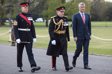 Hashim Thaci Theresa May Attends the Sovereign's Service at the Royal Military Academy