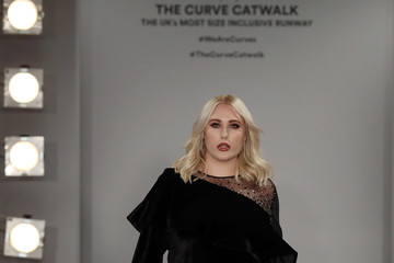 Hayley Hasselhoff SimplyBe Curve Catwalk During London Fashion Week