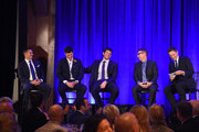 Panelists (L-R) Frank Lugo, Matt Pelak, Brandon Stanton, Gerard Ilaria, and Seth Meyers speak on stage during Headstrong Project Words Of War Gala at Pier 60 on October 17, 2016 in New York City.