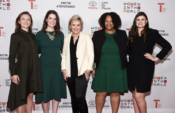 2018 Women in the World Los Angeles Salon - Arrivals [event,premiere,dress,carpet,little black dress,red carpet,tina brown,mia phillips,heather burke,emily kennedy,amy cagle,arrivals,l-r,neuehouse hollywood,los angeles,women in the world]