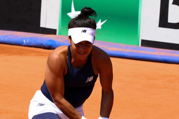 Heather Watson Romania v Great Britain - Fed Cup: World Group II Play Off: Day One