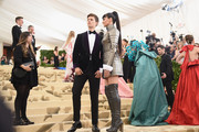 Ansel Elgort and Shailene Woodley attend the Heavenly Bodies: Fashion & The Catholic Imagination Costume Institute Gala at The Metropolitan Museum of Art on May 7, 2018 in New York City.