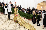 TV personality Andy Cohen and actor Sarah Jessica Parker attend the Heavenly Bodies: Fashion & The Catholic Imagination Costume Institute Gala at The Metropolitan Museum of Art on May 7, 2018 in New York City.