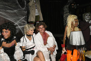 Amelia Rami, Jessica Clarke, Jordan Barrett and Winnie Harlow attend Heidi Klum's 19th Annual Halloween Party Sponsored by SVEDKA Vodka and Party City at Lavo NYC on October 31, 2018 in New York City.